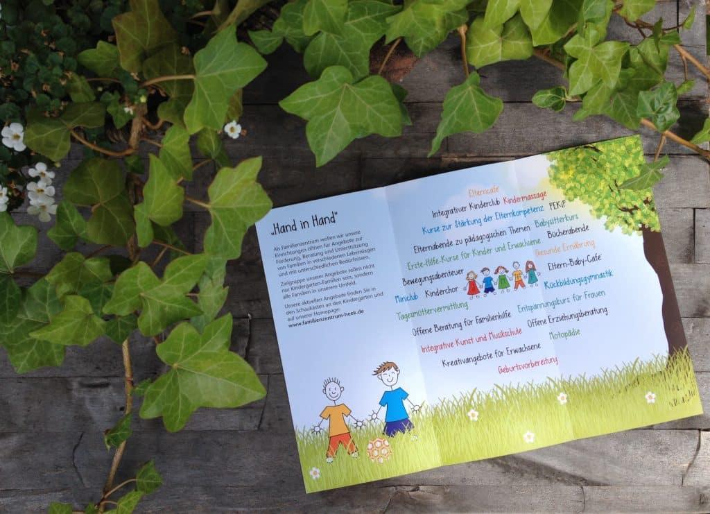 Flyer für Familienzentrum